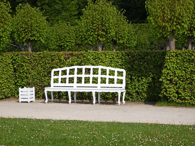 Free Photos: Wooden bench white rest sit click guests can enjoy | Wolfgang Dietz