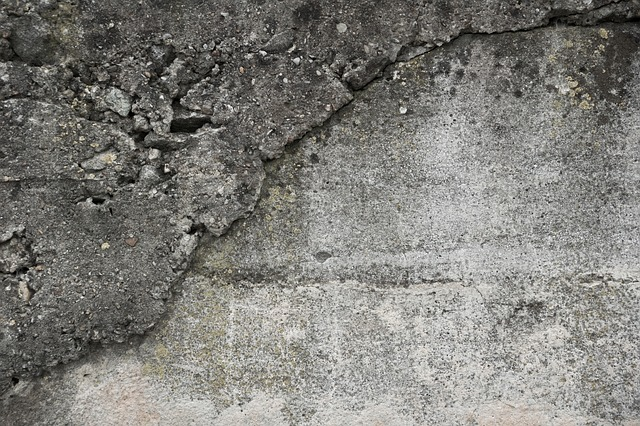 Free wall concrete brittle texture structure close