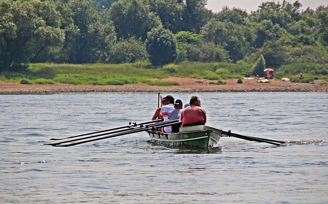 Free rowing canoeing rest silent romance water