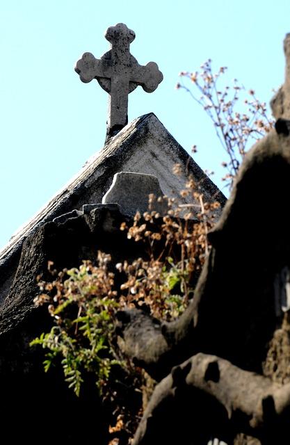 Free cemetery cross building