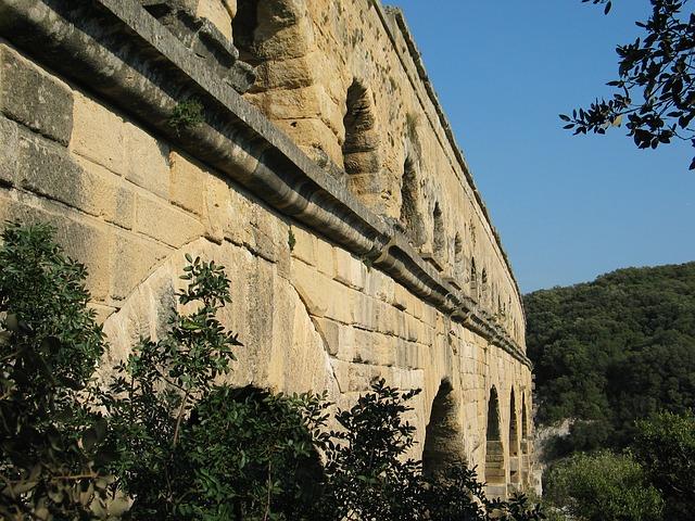 Free architecture france aqueduct pont du gard