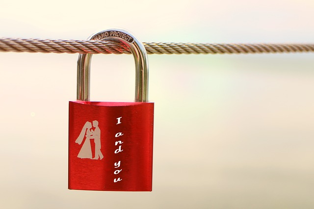 Free                security lock symbol love connectedness red