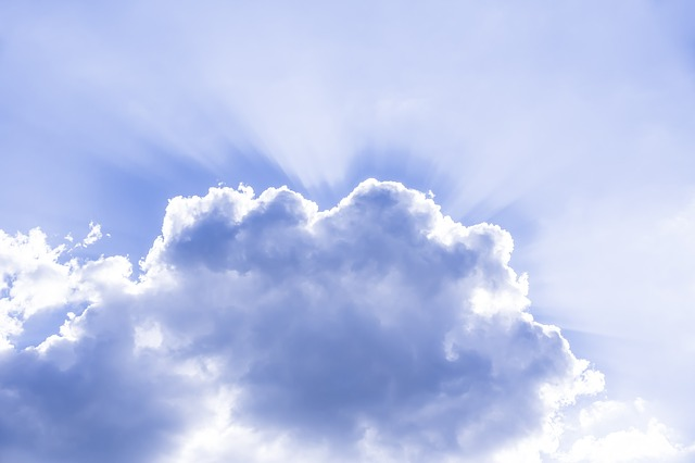 Free cloud sky sunbeam rays heavenly mood atmosphere