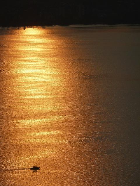 Free see ship water wide abendstimmung sunset