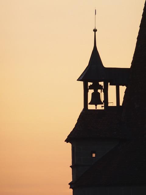 Free abendstimmung bell tower shadow