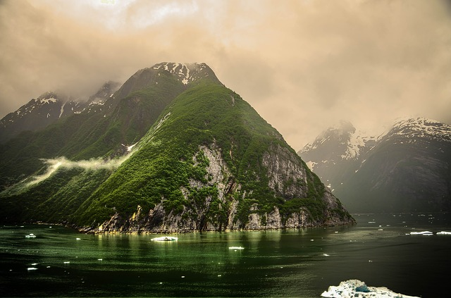 Free tracy arm fjords alaska ice glacier clouds water