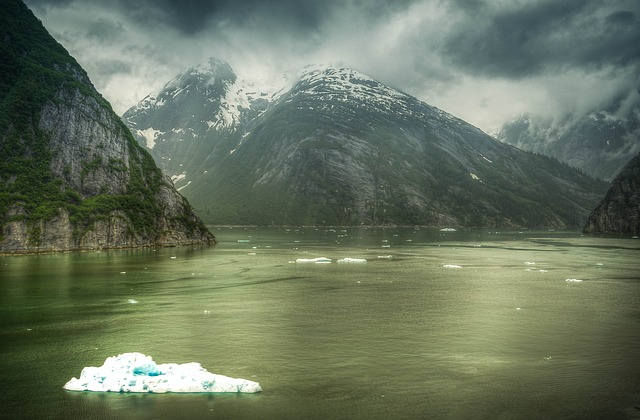 Free tracy arm fjords alaska ice glacier clouds water