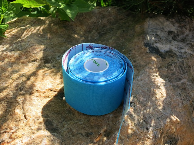 Free sports tape band blue tape taping sport