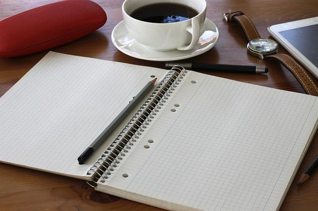 Free note coffee pen pencil