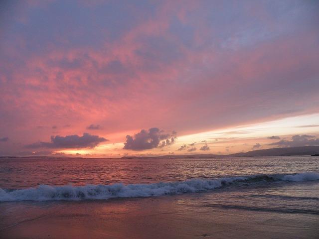 Free beach sea sunset sky clouds costa ocean coastal