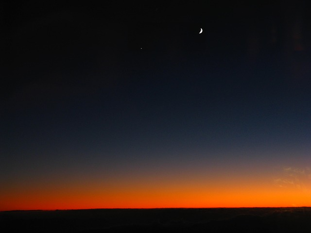 Free sunrise above the clouds moon morning star morning