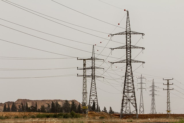 Free pylons electric electricity landscape wires cables
