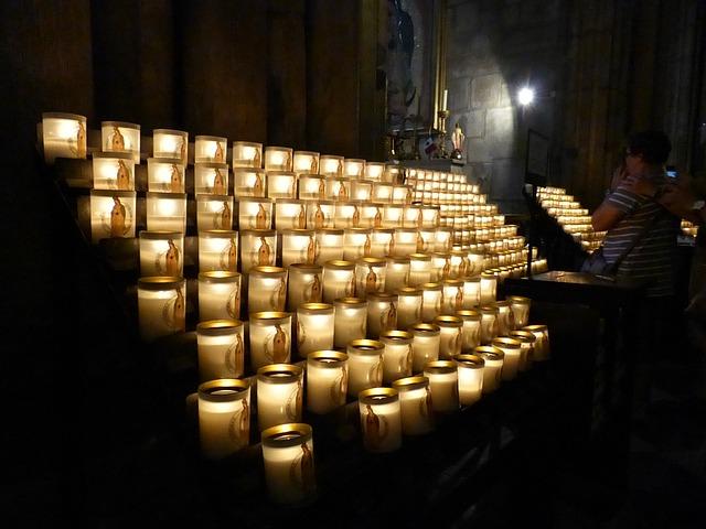 Free church prayer candles lights think fire flame