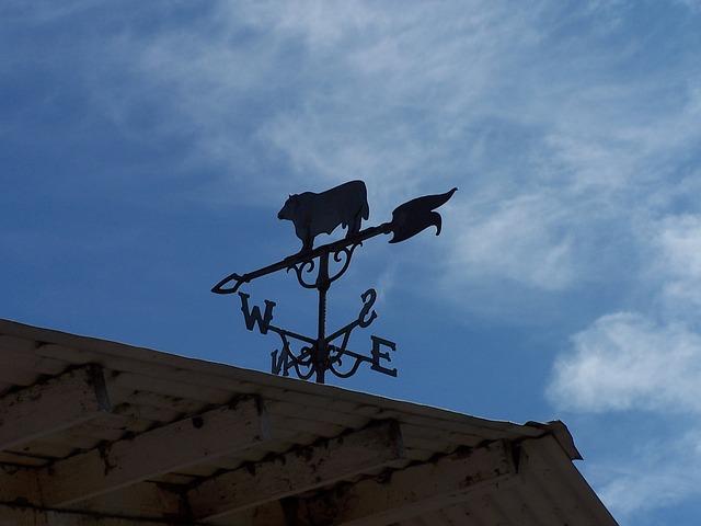 Free weather vane sky barn wind direction blue east