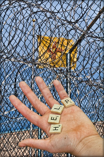 Free prison jail detention fence wire barbed prisoner