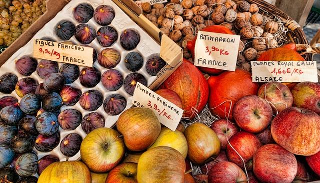 Free fruit france market figs apples alsace walnuts
