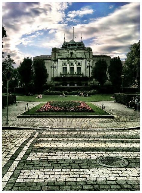 Free bergen norway parliment building architecture