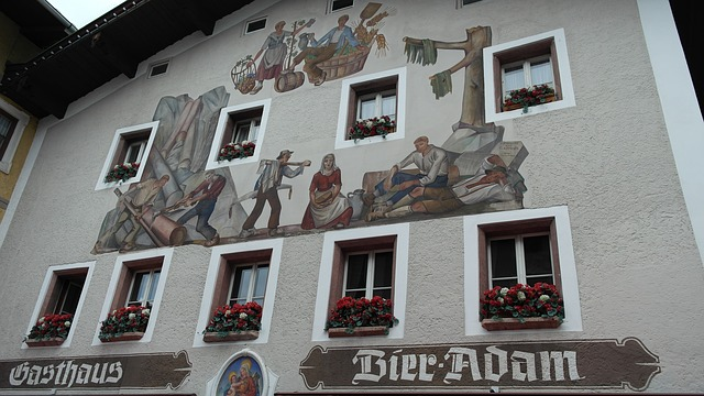 Free lüftlmalerei facades painting frescos upper bavaria