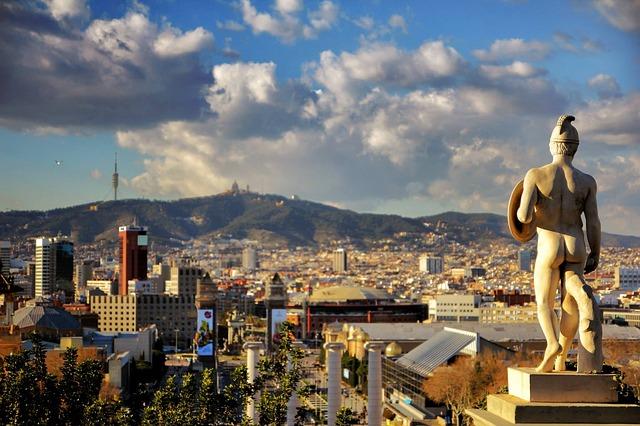 Free cities barcelona views city urban spain sculpture