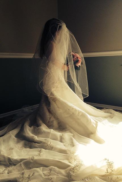 Free wedding dress child girl wedding dress play