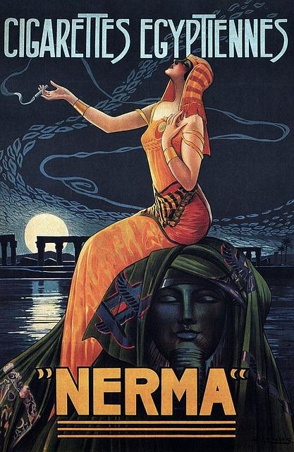 Free vintage poster print advertisement cigarettes