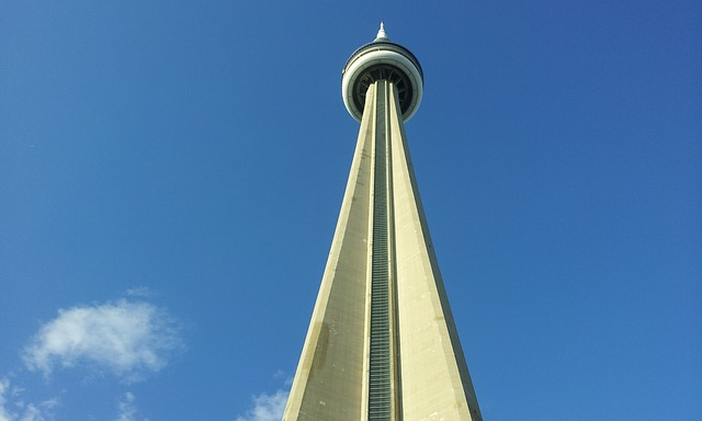 Free tower building architecture cn tower toronto