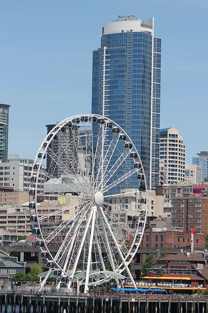 Free seattle wheel ferris wheel attraction pier 57