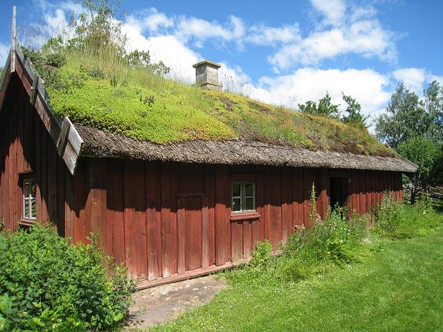 Free house sweden skara village grass summer sky