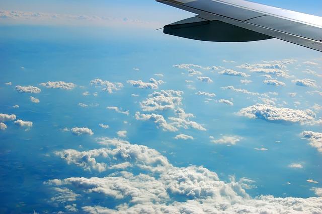Free Photos: Aerial view clouds top view aircraft wing | Jörg Möller