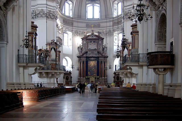 Free salzburg cathedral church nave architecture
