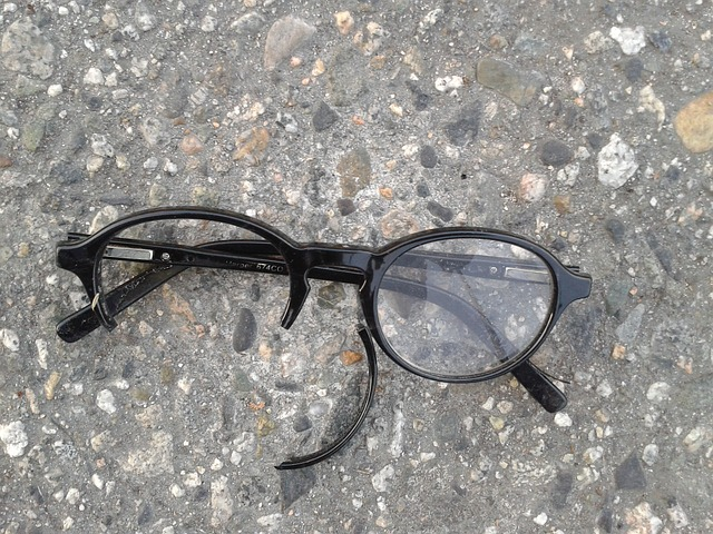 Free eyeglasses broken glasses sight broken pavement