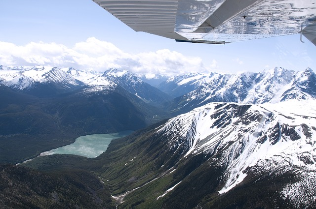 Free mountain range british columbia aerial canada
