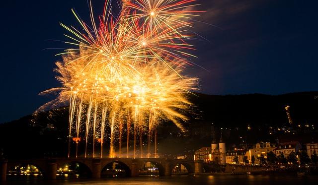 Free fireworks heidelberg closed lighting night