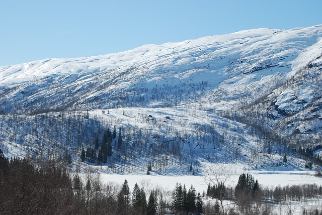 Free mountain winter snow modalen nature