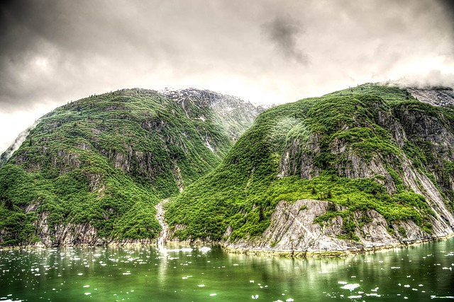Free hdr tracy arm fjord alaska juneau mountains scenic
