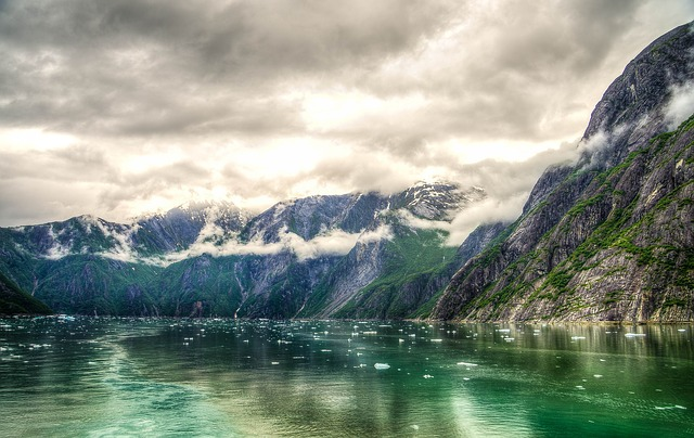 Free tracy arm fjord alaska juneau mountains hdr scenic