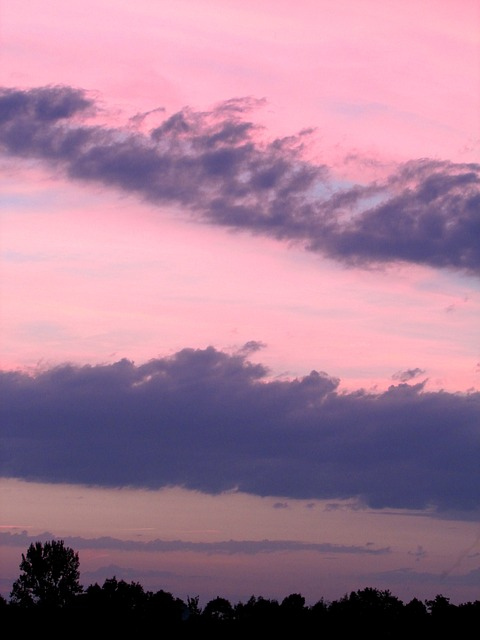 Free abendstimmung clouds sunset dusk sky beautiful