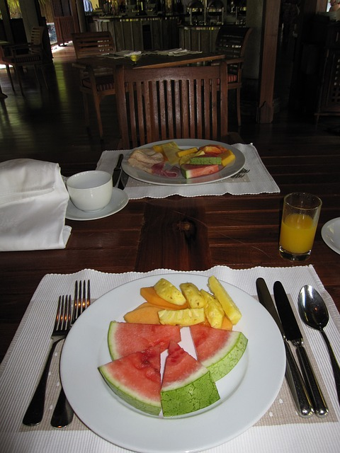 Free breakfast fruit watermelon healthy