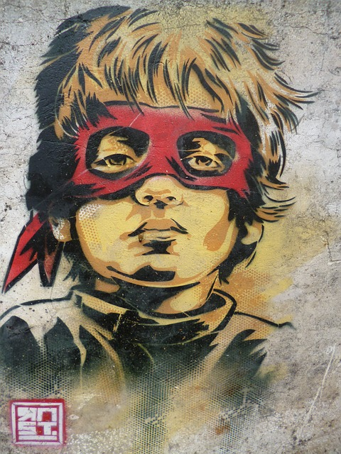 Free vigilante child street art