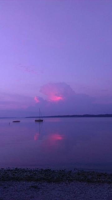 Free abendstimmung sunset mirroring rest reflex sail
