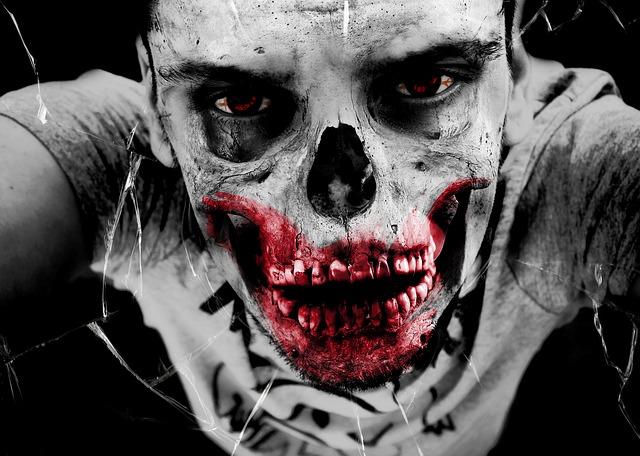 Free zombie horror undead monster bone death injured