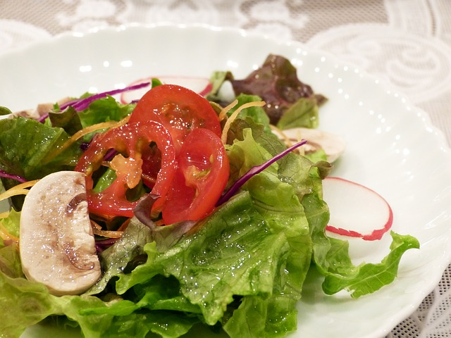 Free vegetables healthy salad dressing plate tomato