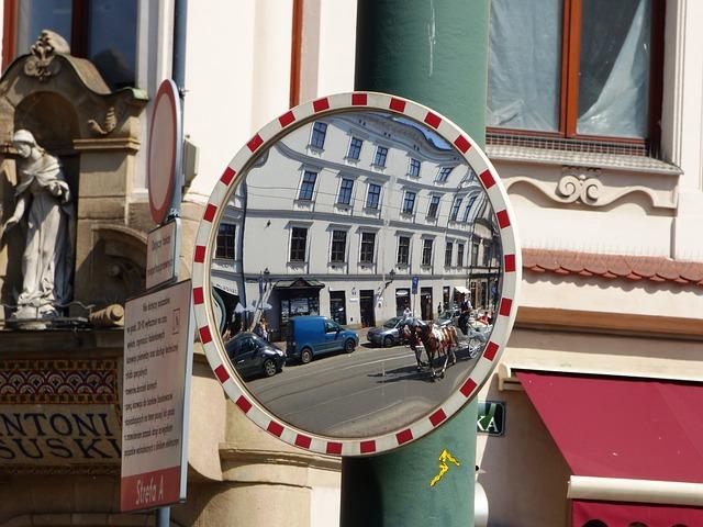 Free mirror reflection street urban