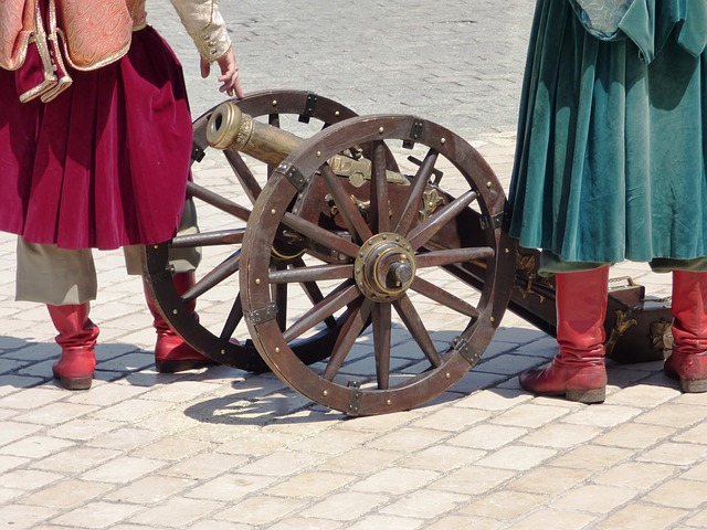 Free cannon weapon old monument black powder