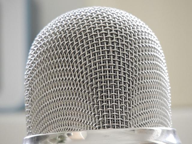 Free               microphone silver audio micro sound