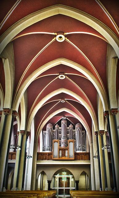 Free church organ nave st jacob germany