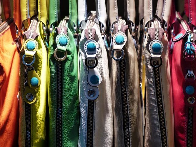 Free zips bags handbags colorful color bag closure