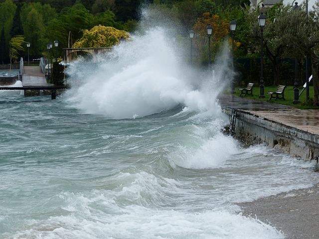 Free Photos: Wave inject breakwater winter storm see spray | Hans Braxmeier