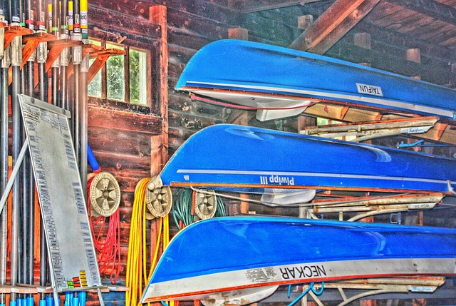 Free Photos: Canoeing canoeist boot river rowing boat house | Holger Langmaier
