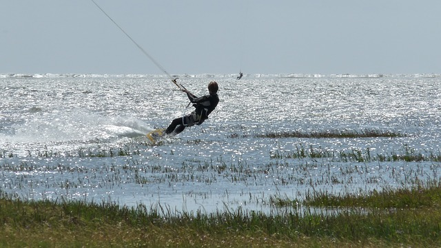Free water sports surfer north sea coast st peter-ording